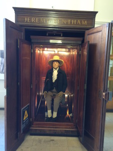 Jeremy Bentham's Auto-Icon at UCL. Photo: Rodrigo Firmino.