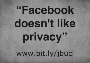 Day 76: Facebook doesn't like privacy